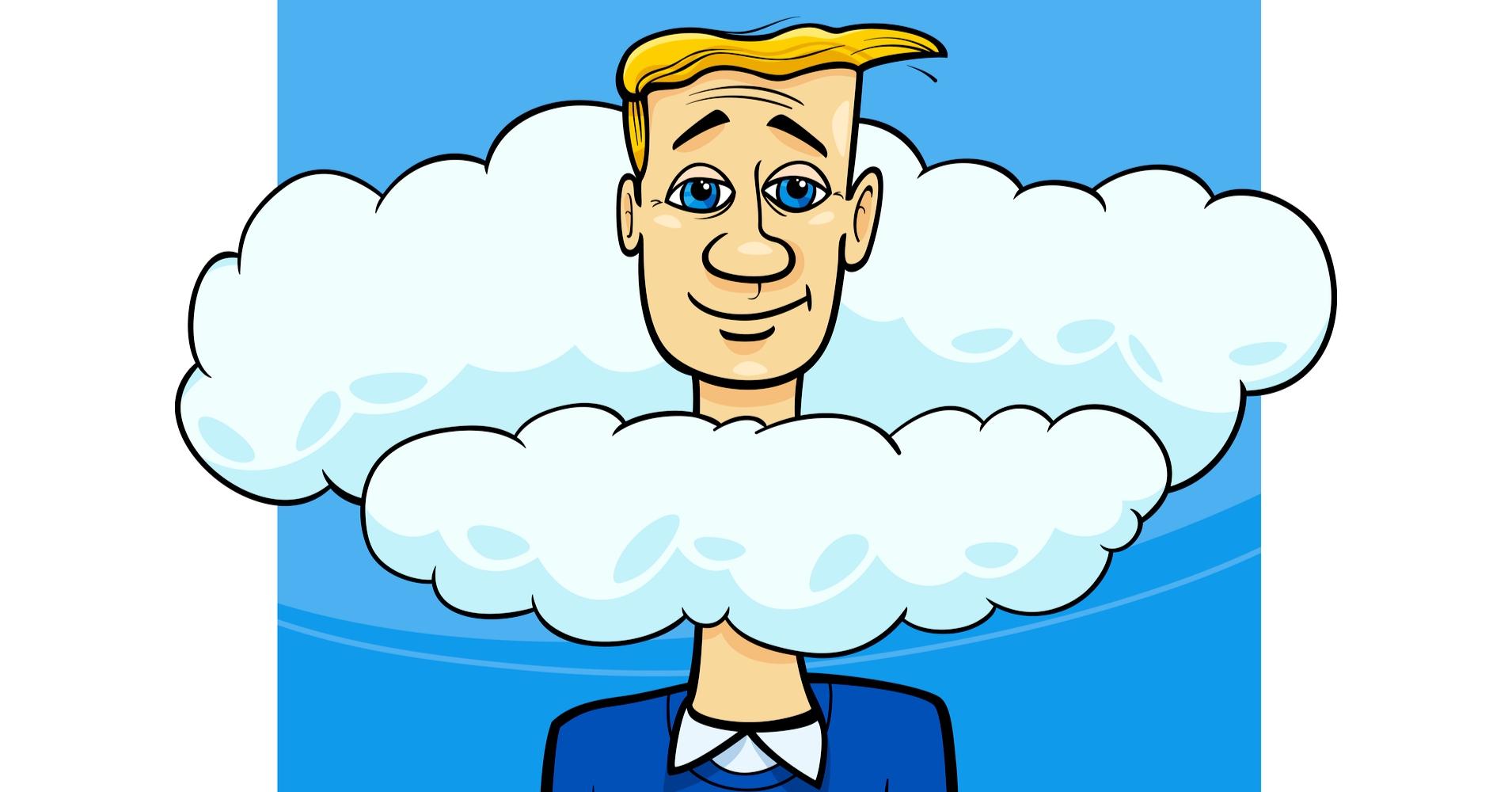Голова в облаках картинка