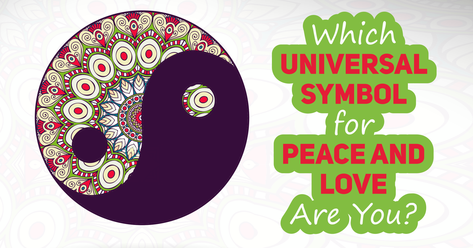 Which Universal Symbol For Peace And Love Are You Quiz Quizony